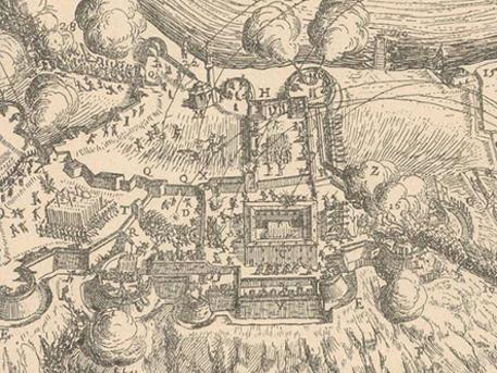 Képrészlet: Budavár visszafoglalása