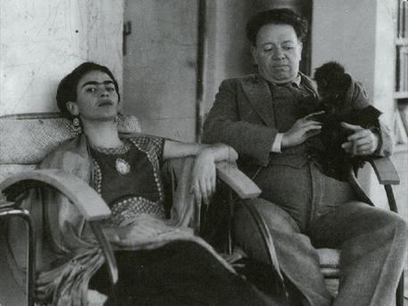 Frida Kahlo férjével, Diego Riverával