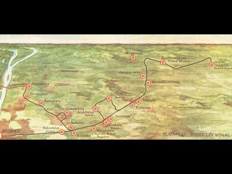 HÉV-térkép 1933-ból (Forrás: Kertész Z. István: Az elővárosi vasút)