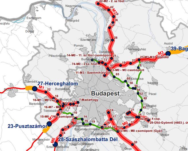budapest útdíj térkép I. kerület   Budavár | Útdíj: Íme a térkép a fizetős és ingyenes  budapest útdíj térkép
