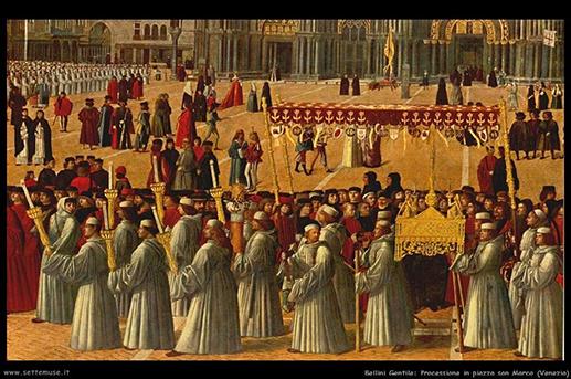 Bellini festménye, körmenet Velencében