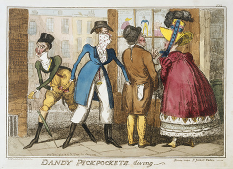 George Cruikshank: Dandy pickpockets