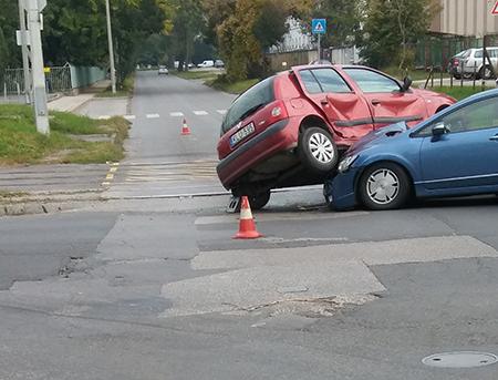 Ez a baleset tavaly történt, a Maglódi úton, fotó: cai