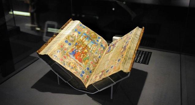 Ez itt egy Mátyás király Corvinái közül, fotó: mult-kor.hu