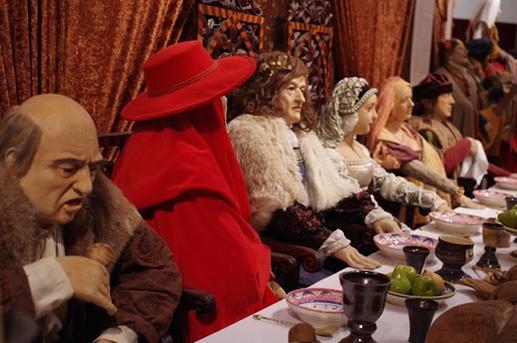 Ez a Mátyás király ugyan az ópusztaszeri panoptikumban mulatozik, fotó: életmód 50